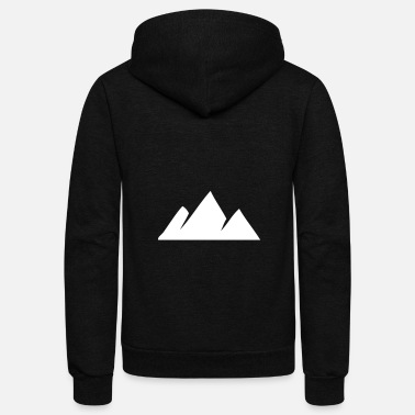 Shape Geometric Hill Tops - Unisex Fleece Zip Hoodie