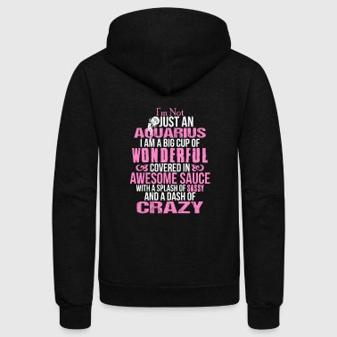 Aquarius - Big cup of wonderful covered in aweso - Unisex Fleece Zip Hoodie