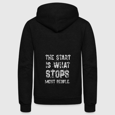 Start THE START IS - Unisex Fleece Zip Hoodie