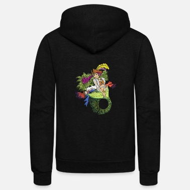 Pirate Mermaid - Unisex Fleece Zip Hoodie