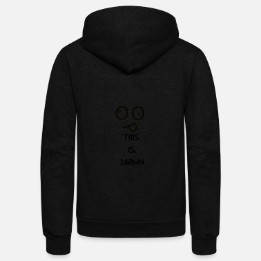 Darwin This Is Darwin - Unisex Fleece Zip Hoodie