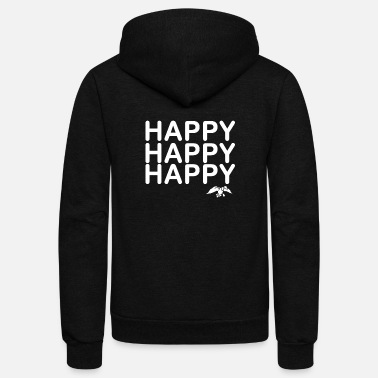 Happiness Happy Happy Happy Duck - Unisex Fleece Zip Hoodie