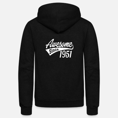 Awesome Since 1951 Awesome Since 1951 - Unisex Fleece Zip Hoodie