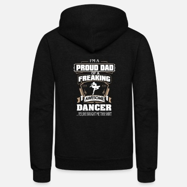 Dancer - Proud dad of an awesome dancer - Unisex Fleece Zip Hoodie