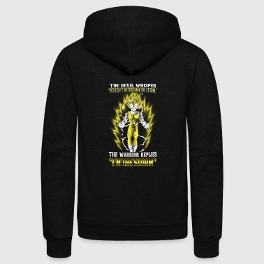 Vegeta - The warrior replies 'I'm the storm' - Unisex Fleece Zip Hoodie
