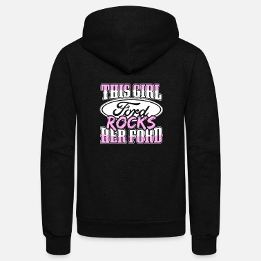 Michael Clifford Ford - this girl ford rocks her ford - Unisex Fleece Zip Hoodie