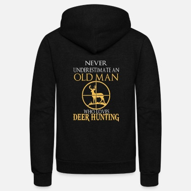 Deer Hunting Deer hunt - Old man who loves deer hunting tee - Unisex Fleece Zip Hoodie