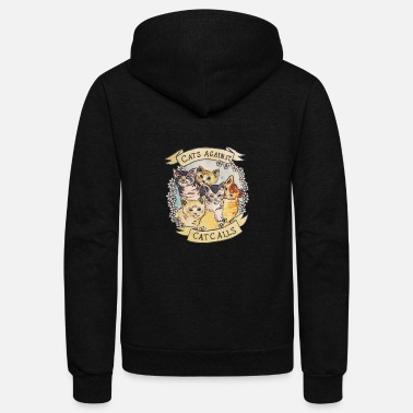 Against CATS AGAINST - Unisex Fleece Zip Hoodie