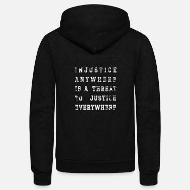 Injustice injustice - Unisex Fleece Zip Hoodie