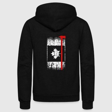 Canadian firefighter - Awesome firefighter t - s - Unisex Fleece Zip Hoodie