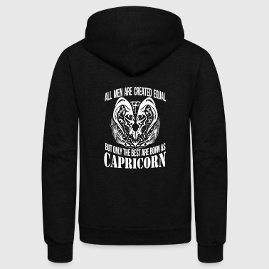 Capricorn - The best men are born as capricorn - Unisex Fleece Zip Hoodie