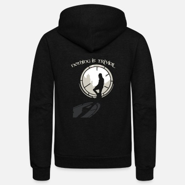 Crow The crow movie - Nothing is trivial - Unisex Fleece Zip Hoodie