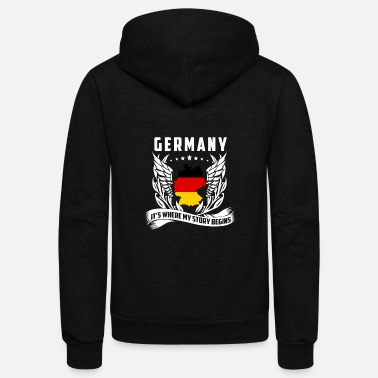 Germany Germany - Germany is where my story begins - Unisex Fleece Zip Hoodie