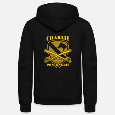 Armageddon Apocalypse Now quote - Charlie don't surf - Unisex Fleece Zip Hoodie
