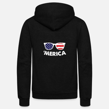 United States 'Merica - United States USA 4th of July Gift - Unisex Fleece Zip Hoodie