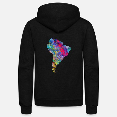 South America South America map - Unisex Fleece Zip Hoodie