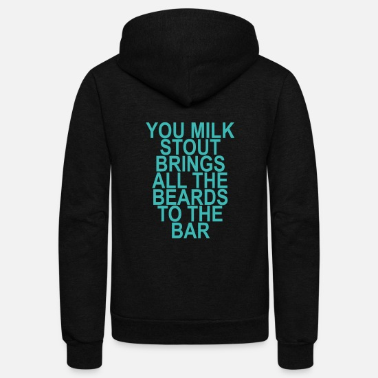 Stout Hoodies & Sweatshirts - milk_stout_beards_ - Unisex Fleece Zip Hoodie black