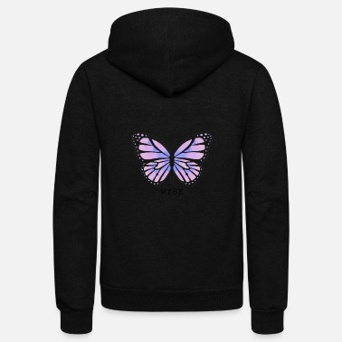 WYSE Butterfly (no white background) - Unisex Fleece Zip Hoodie