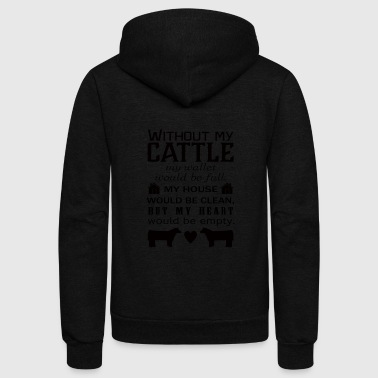 Rancher with_out_cattle - Unisex Fleece Zip Hoodie