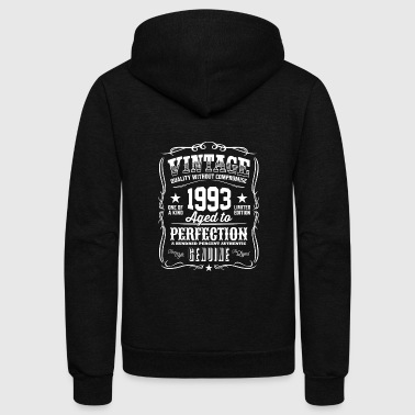 Vintage 1993 Aged to Perfection - Unisex Fleece Zip Hoodie