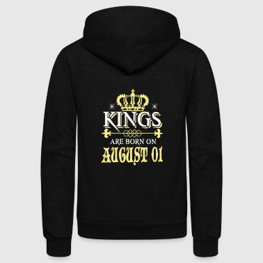 Kings are born on AUGUST 01 - Unisex Fleece Zip Hoodie