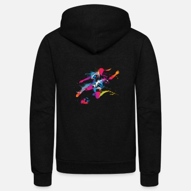 Soccer Women's Soccer Color Splatter - Unisex Fleece Zip Hoodie