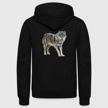 european wolf - Unisex Fleece Zip Hoodie