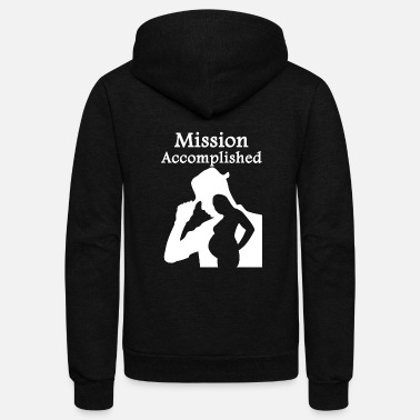 Pregnant Pregnant - Mission Accomplished - Unisex Fleece Zip Hoodie