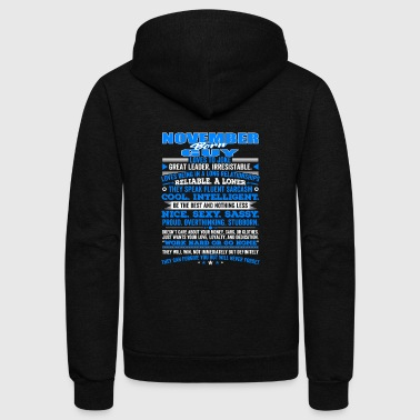 November QUALITIES OF THE GUY BORN IN NOVEMBER NOVEMBER B - Unisex Fleece Zip Hoodie