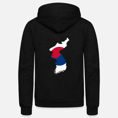 Language South Korea - Unisex Fleece Zip Hoodie