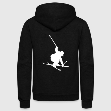 Ski Skiing Freestyle Jump Winter Sports Jumping - Unisex Fleece Zip Hoodie