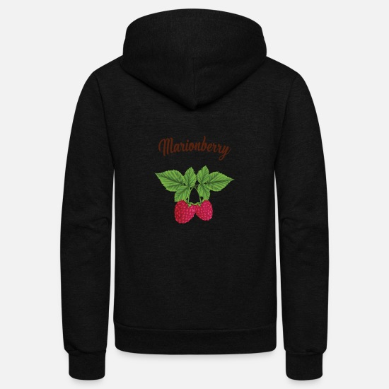 Gift Idea Hoodies & Sweatshirts - Witty Marionberry - Unisex Fleece Zip Hoodie black