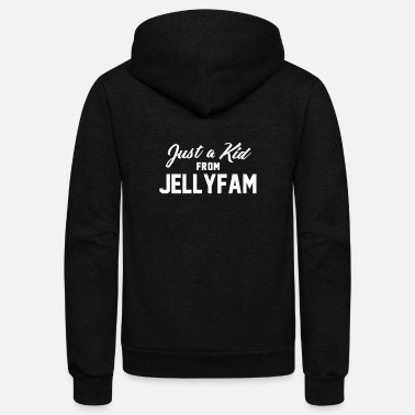 Jelly Just a Kid from Jelly Fam - Unisex Fleece Zip Hoodie