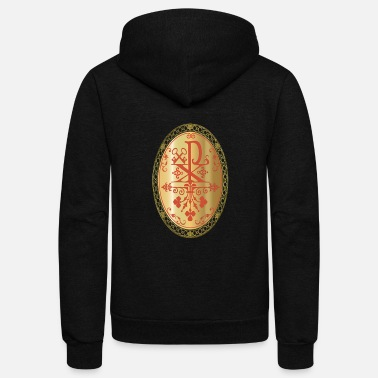 Rho CHI-RHO GOLD MEDALLION - Unisex Fleece Zip Hoodie