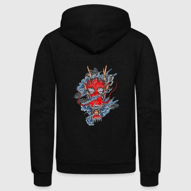 red dragon - Unisex Fleece Zip Hoodie