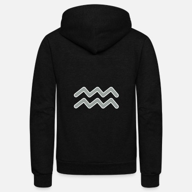Sign Aquarius Horoscope Zodiac signs Zodiac signs - Unisex Fleece Zip Hoodie