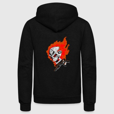 ghost motorcycle - Unisex Fleece Zip Hoodie