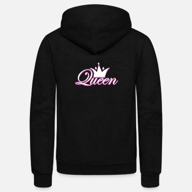 Brilliant Crown Crowns King Queen JGA Wedding Bride Groom - Unisex Fleece Zip Hoodie