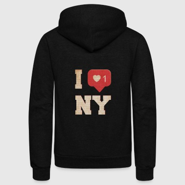 I love new york - Unisex Fleece Zip Hoodie