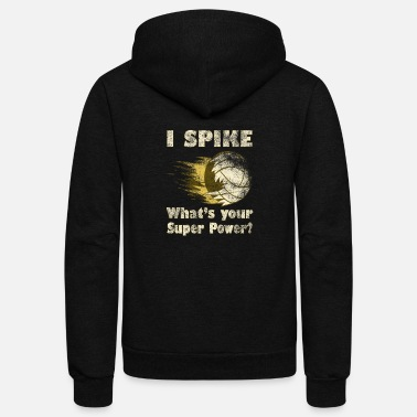 Ball Sport Volleyball spike sport volley ball sports ball - Unisex Fleece Zip Hoodie