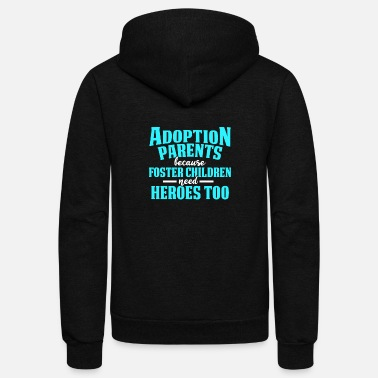 Day Adoption Announcement Day Family Gifts Parent - Unisex Fleece Zip Hoodie