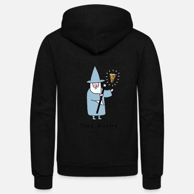 Wizard Pizza_Wizzard - Unisex Fleece Zip Hoodie