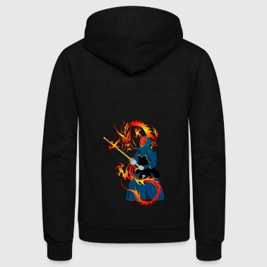 Martial-arts martial arts - Unisex Fleece Zip Hoodie
