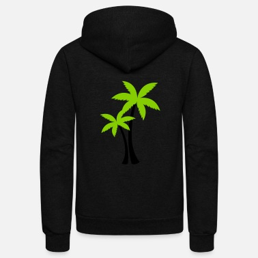Palm Trees palm trees - Unisex Fleece Zip Hoodie