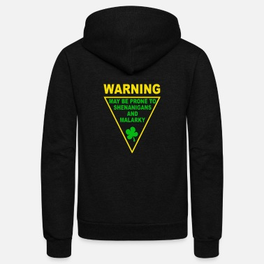 Toddler Warning Shenanigans and Malar Toddler - Unisex Fleece Zip Hoodie