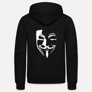 Anonymous ANONYMOUS HACKER - Unisex Fleece Zip Hoodie