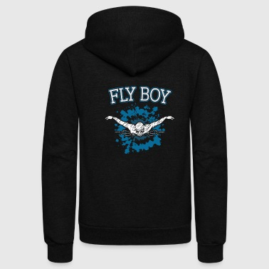 Instructor Swimming Swim Fly Boy - Unisex Fleece Zip Hoodie