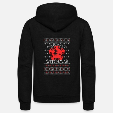 Witchcraft Witch - Ugly Christmas Sweater - Unisex Fleece Zip Hoodie