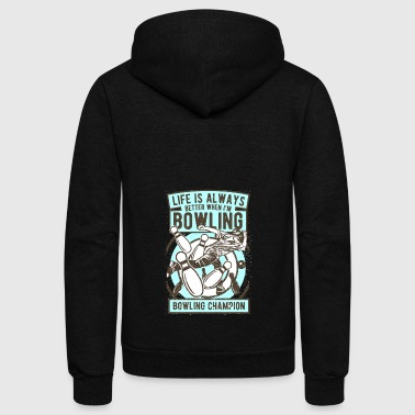 BOWLING CHAMPION - Unisex Fleece Zip Hoodie