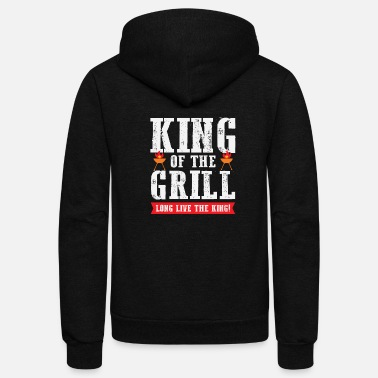 Grill Party Funny King Of The Grill Party Grilling Summer Gift - Unisex Fleece Zip Hoodie